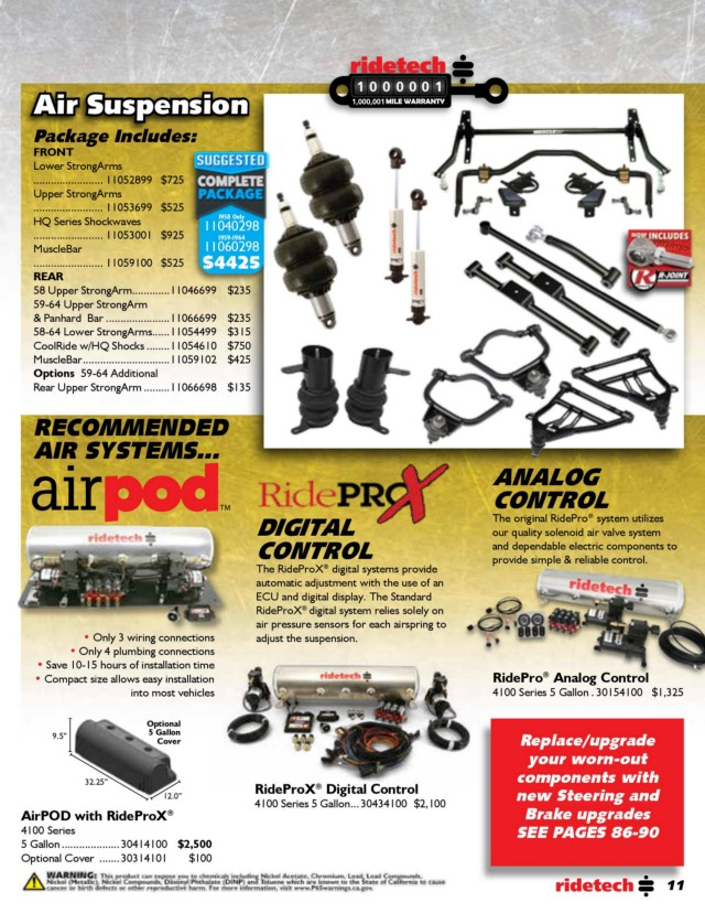 Page 11 - RideTech 2019 Catalog for Web