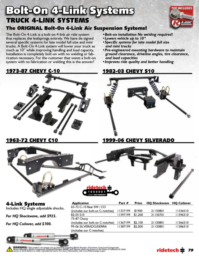 Page 79 - RideTech 2019 Catalog for Web