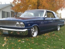 Brian Rodgers\' 63 Ford Fairlane Front ShockWaves Rear AirOverLeaf