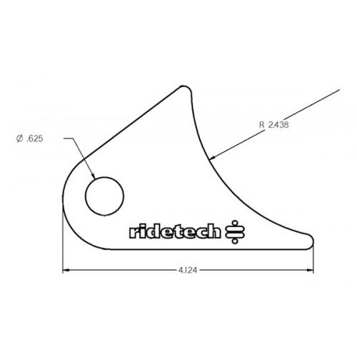 Large Axle Tab for Tri Link