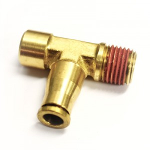 """1/8"""" FNPT x 1/4"""" NPT x 1/4"""" Tube Push-to-connect Compressor Tee"""
