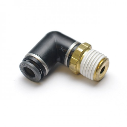"""Fitting: Air Suspension Quick-Connect 1/4"""" x 1/4"""" Swivel Elbow"""