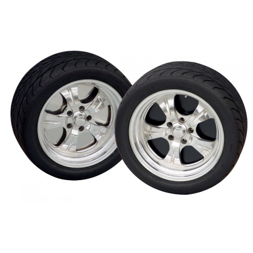 """14"""" wheelplate Pol. Stainless (set of 4)"""