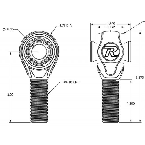 R-Joint Rod Ends - 8 Pack