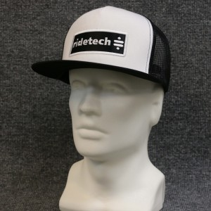 RideTech Flat Bill Mesh Snap Back Hat - Black/White