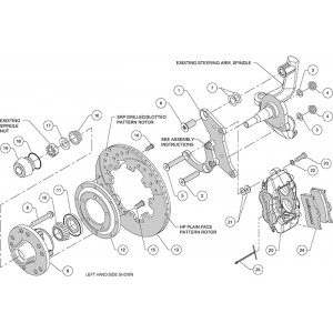 Wilwood Front Dynalite Brake System for 1965-1970 Impala
