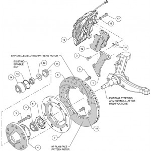 Wilwood Front Dynapro 6 Brake System for 1979-1988 GM