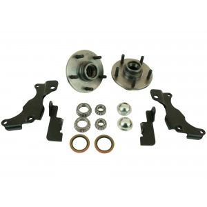 Front Brake Retention Kit for 1965-1982 Corvette (Tru Turn)