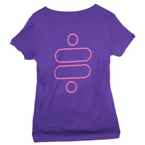 Ridetech Womens V-neck Purple/pink T-shirt