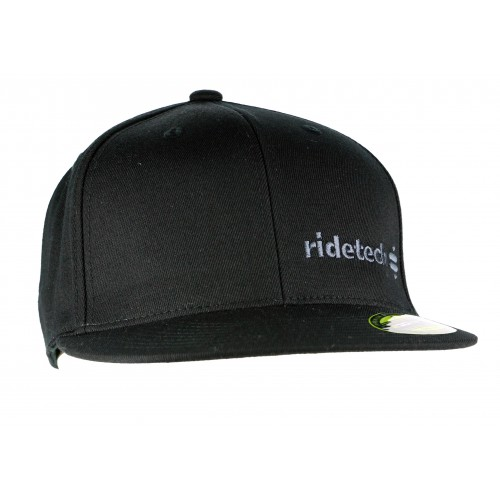 RideTech Flat Bill Flexfit Hat - Black/Grey