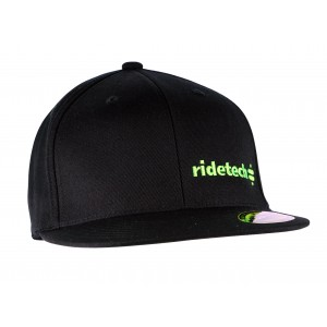 RideTech Flat Bill Flexfit Hat - Black/Lime