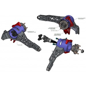Rear StrongArms System with C7 Hubs for 1963-1979 C2/C3 Corvette