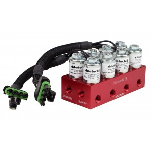 RidePRO 4-way Solenoid / Air Valve Block (Fittings not included)