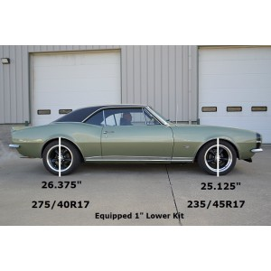 1967-1969 Camaro StreetGRIP Lowering Coil Springs - Dual Rate - Pair