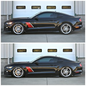 Air Suspension System for 15-up Mustang