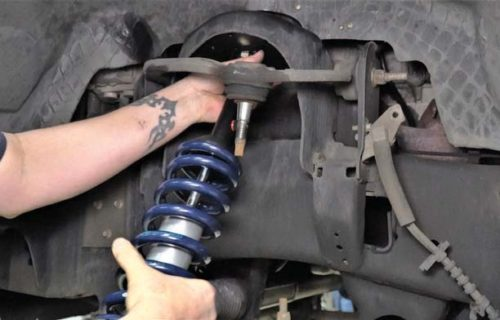 ford f150 front ridetech coil-over install