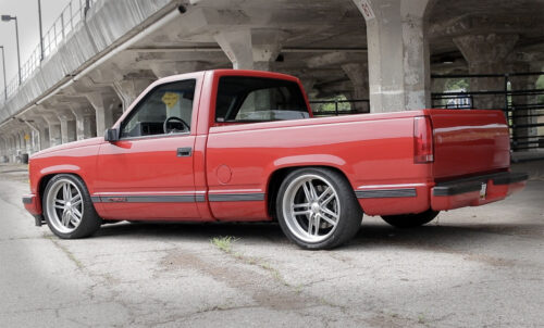 LS OBS Chevy 1500 pickup truck slammed coil over supsension ride tech columbus ridetech LSA Blower Supercharged